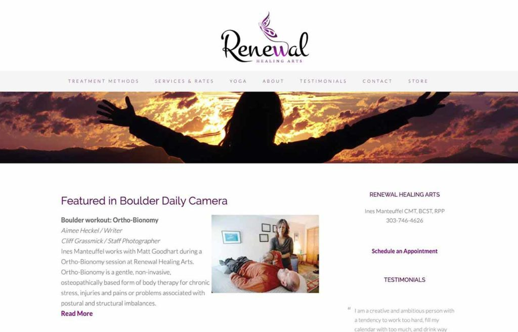 renewal boulder wordpress site design